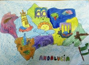 Mapa de Andalucía 1º de Primaria