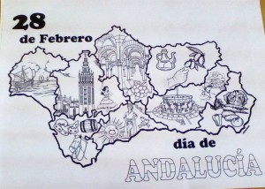 Mapa de Andalucía de 3º de Primaria